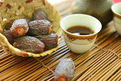 Tea and dates royalty free stock photography