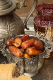 Tea and dates Stock Photo