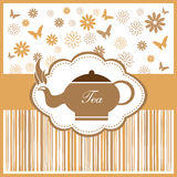 Tea design Royalty Free Stock Images
