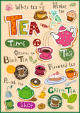 Tea design elements Stock Photography