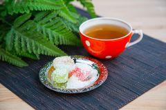 Tea and dessert Royalty Free Stock Image