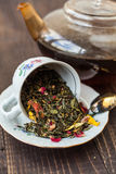 Tea with different additives Royalty Free Stock Image