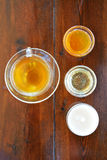 Tea with different types of honey Royalty Free Stock Images