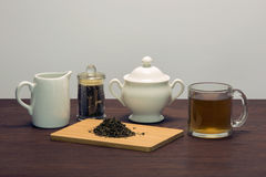 Tea 2. A display of tea, creamer and a sugar bowl Royalty Free Stock Image