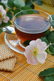 Tea with dog-rose blossom Royalty Free Stock Photo