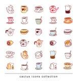 Tea doodle sketch elements.Hand drawn vector illustration Stock Photo