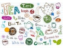 Tea Doodles Royalty Free Stock Photos
