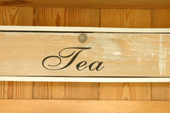 Tea drawer Royalty Free Stock Photos