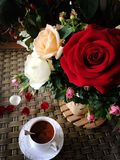 Tea and rose Royalty Free Stock Photo