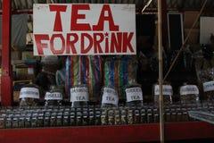 Tea for drink. Tea stall at the Damnoensaduak Floating market in Thailand Stock Photo
