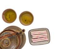 Tea drinking set Stock Photo