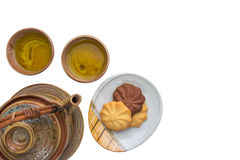 Tea drinking set Stock Images