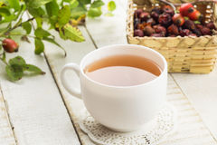 Tea with dry briar Royalty Free Stock Photos