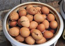Tea eggs Stock Photo