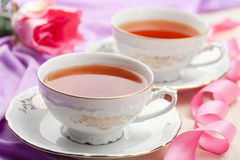 Tea in elegant cups Royalty Free Stock Images