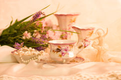 Tea in elegant cups Stock Images