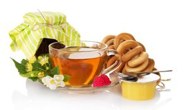 Tea and everything for him Stock Image
