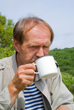 tea för 3 drinkmän Fotografering för Bildbyråer