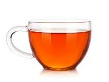tea för bana för svart clippingkopp glass bland annat Arkivfoton