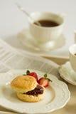 tea för deltagare för eftermiddagavbrottskräm Arkivfoto