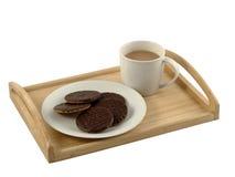 tea för eftermiddagkexchoklad Royaltyfria Foton