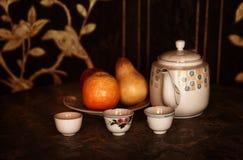 tea för eftermiddaglivstid fortfarande Arkivfoton