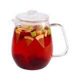 Tea för fruktbärgräsplan royaltyfria bilder