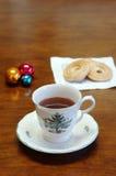 tea för julkopieringsavstånd Royaltyfria Bilder
