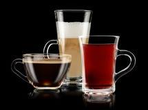 tea för kaffedesignelement Arkivbild