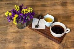 tea för kaffedesignelement Arkivbilder