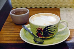 tea för kaffeset Arkivfoton