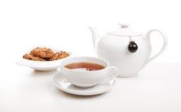 tea för kakakoppkruka Royaltyfria Bilder