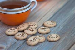 tea för kexar fyra Royaltyfri Fotografi