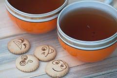 tea för kexar fyra Fotografering för Bildbyråer