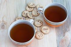 tea för kexar fyra Royaltyfri Bild