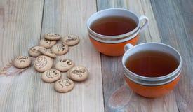 tea för kexar fyra Royaltyfri Foto