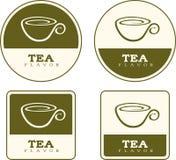 Tea Flavor Food Labels Stock Images