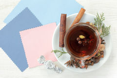 Tea flavored with candy royalty free stock photos
