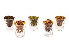 Tea flavors dry plants Stock Photography