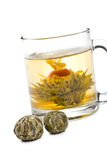 Tea with flower Stock Photography