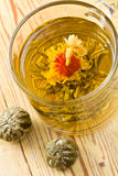 Tea with flower Stock Images