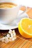 Tea with flower Stock Photos