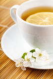 Tea with flower Royalty Free Stock Images
