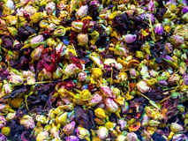 Tea flower mix for herbal tea Stock Images
