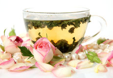 Tea and flower Royalty Free Stock Photography