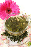 Tea and flower Stock Images