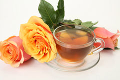 Tea and flower Royalty Free Stock Images