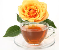 Tea and flower Stock Photos