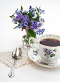 Tea and Flowers stock photography