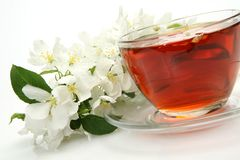 Tea and flowers Royalty Free Stock Photo